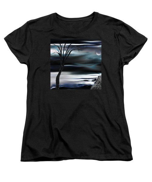 Women's T-Shirt (Standard Cut) featuring the painting Get Back To Serenity by Yul Olaivar