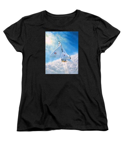 Women's T-Shirt (Standard Cut) featuring the painting Ghost Flight Rl206 by Michael Swanson