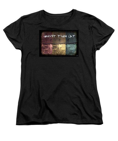 Ghost Town Cat Women's T-Shirt (Standard Cut) by Absinthe Art By Michelle LeAnn Scott