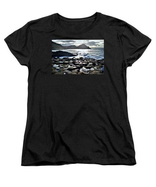Giant's Causeway Sunset Women's T-Shirt (Standard Cut) by Nina Ficur Feenan