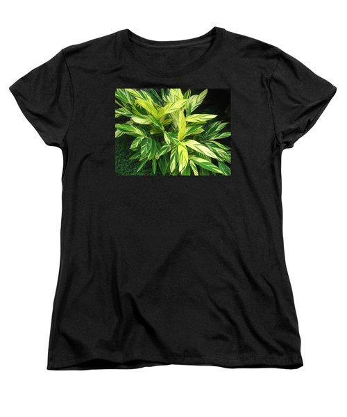 Women's T-Shirt (Standard Cut) featuring the photograph Ginger Lily. Alpinia Zerumbet by Connie Fox