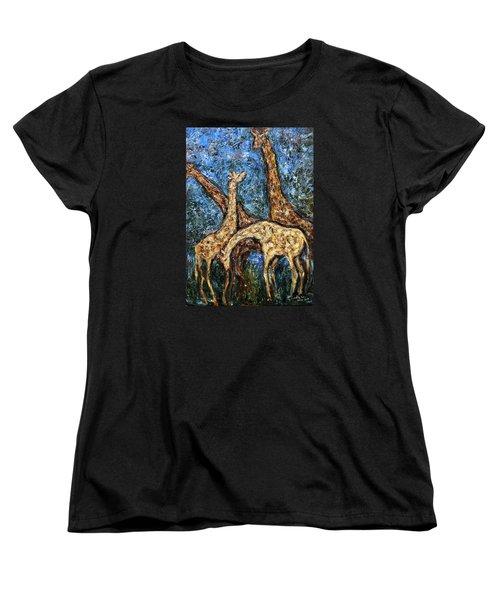 Giraffe Family Women's T-Shirt (Standard Cut)