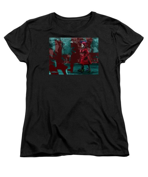 Girl In The Blood-stained Coat Women's T-Shirt (Standard Cut) by Seth Weaver