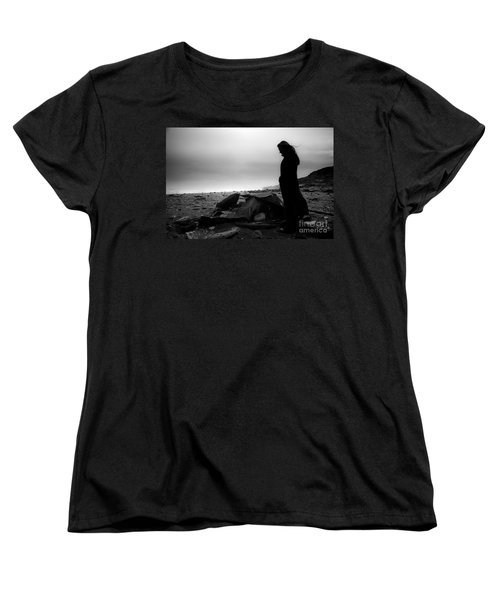 Women's T-Shirt (Standard Cut) featuring the photograph Girl On The Beach by Gunnar Orn Arnason