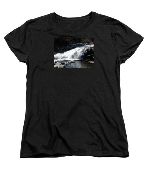 Glacial Potholes Falls Women's T-Shirt (Standard Cut) by Catherine Gagne