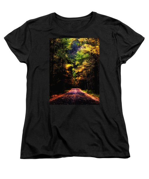 Glacier Fall Road Women's T-Shirt (Standard Cut)
