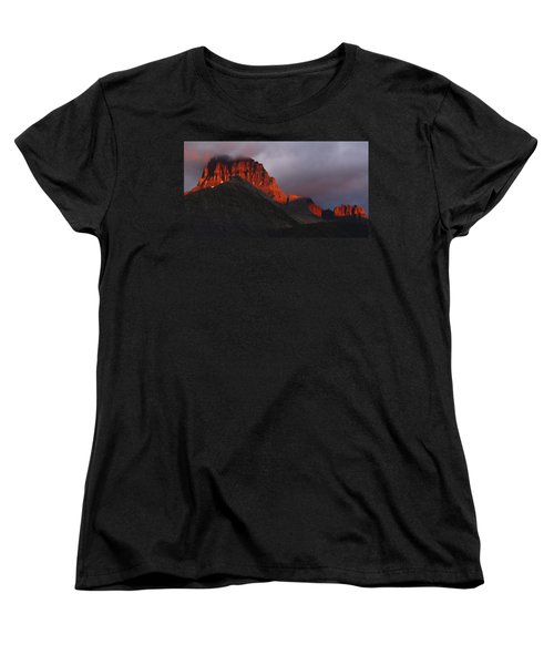 Women's T-Shirt (Standard Cut) featuring the photograph Glacier Sunrise by Alan Socolik