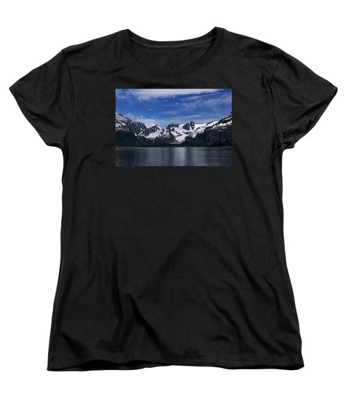 Glacier View Women's T-Shirt (Standard Cut) by Aimee L Maher Photography and Art Visit ALMGallerydotcom