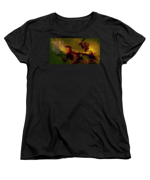 Women's T-Shirt (Standard Cut) featuring the photograph Gladiator  by Brian Reaves