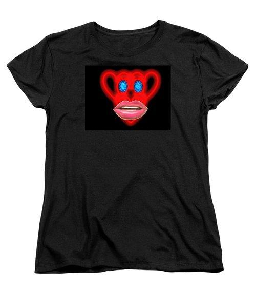 Glamour Monkey Blue Whirls Women's T-Shirt (Standard Cut) by Catherine Lott