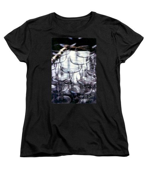 Women's T-Shirt (Standard Cut) featuring the photograph New Orleans Toast To The New Year 2017 Abstract by Michael Hoard