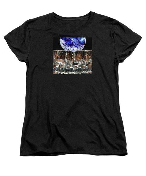 Glass On Glass Women's T-Shirt (Standard Cut) by Jolanta Anna Karolska