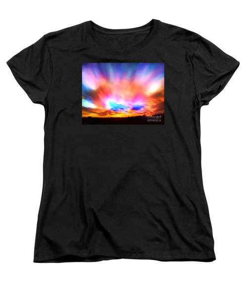 Glory Sunset Women's T-Shirt (Standard Cut) by Patricia L Davidson