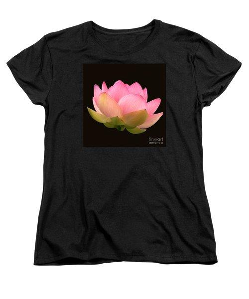 Glowing Lotus Square Frame Women's T-Shirt (Standard Cut) by Byron Varvarigos