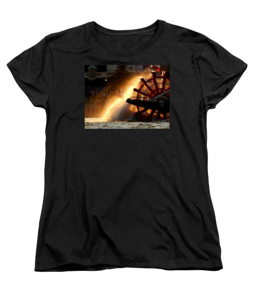 New Orleans Steamboat Natchez On The Mississippi River Women's T-Shirt (Standard Cut) by Michael Hoard