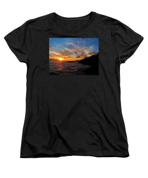 Women's T-Shirt (Standard Cut) featuring the photograph God's Morning Painting by Bonfire Photography