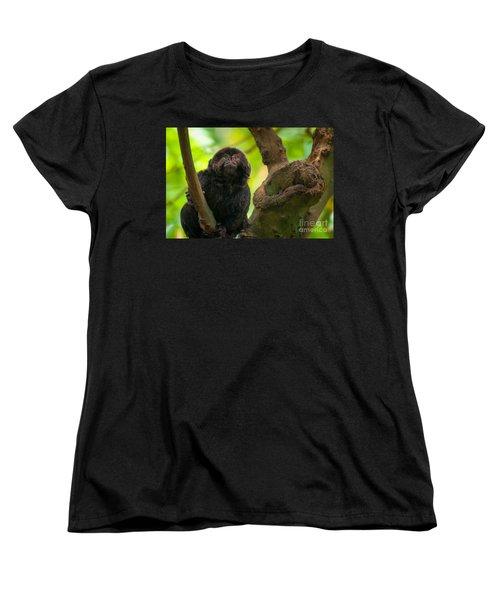 Women's T-Shirt (Standard Cut) featuring the photograph Goeldi's Callimico by Bianca Nadeau