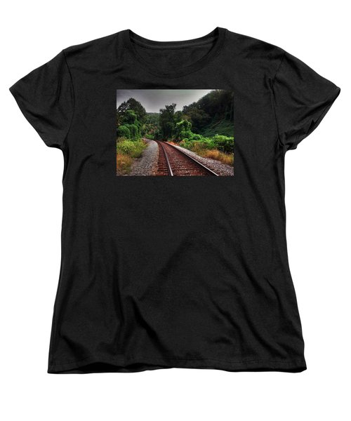 Women's T-Shirt (Standard Cut) featuring the photograph Going Somewhere by Janice Spivey