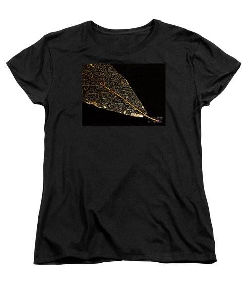 Women's T-Shirt (Standard Cut) featuring the photograph Gold Leaf by Ann Horn