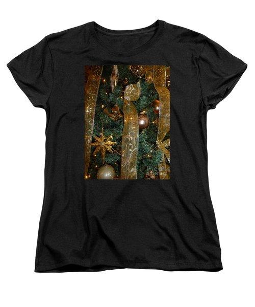 Gold Tones Tree Women's T-Shirt (Standard Cut) by Barbie Corbett-Newmin