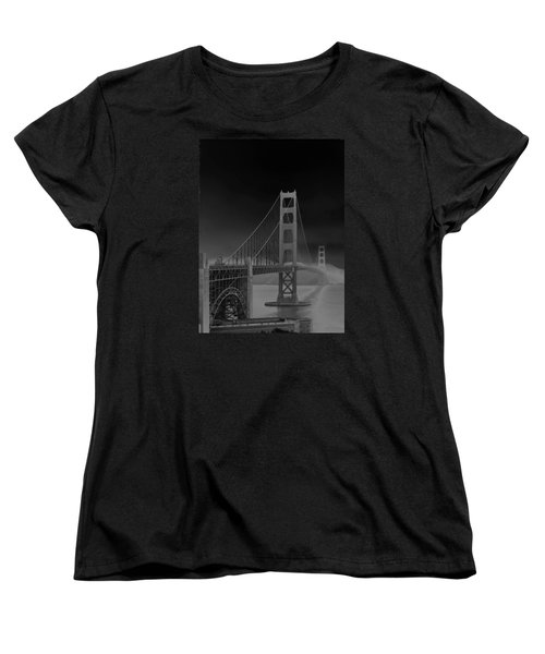 Women's T-Shirt (Standard Cut) featuring the photograph Golden Gate Bridge To Sausalito by Connie Fox