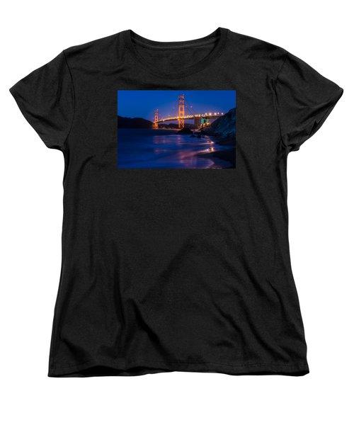 Golden Gate Glow Women's T-Shirt (Standard Cut) by Linda Villers