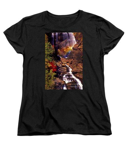 Golden Rainbow Women's T-Shirt (Standard Cut) by Paul W Faust -  Impressions of Light