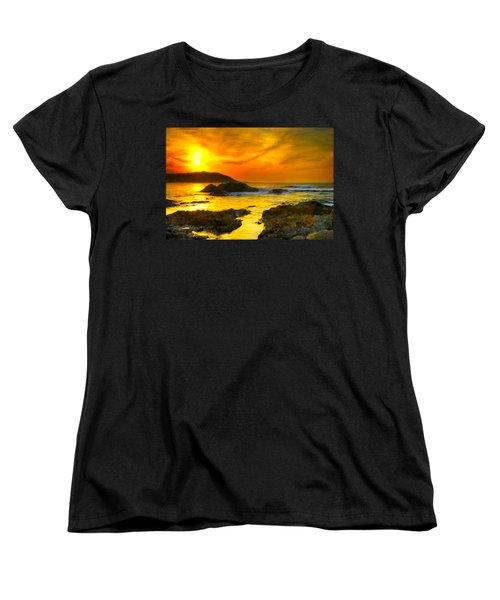 Golden Sky Women's T-Shirt (Standard Cut) by Bruce Nutting