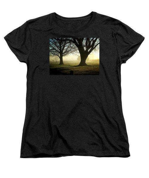 Women's T-Shirt (Standard Cut) featuring the photograph Golden Sunrise by Greg Simmons