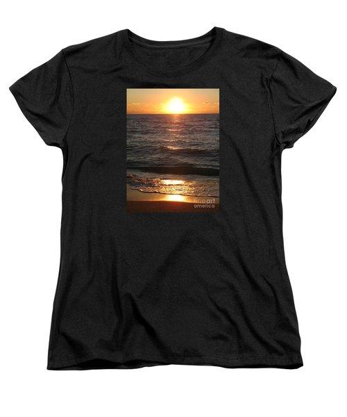 Golden Sunset At Destin Beach Women's T-Shirt (Standard Cut) by Christiane Schulze Art And Photography