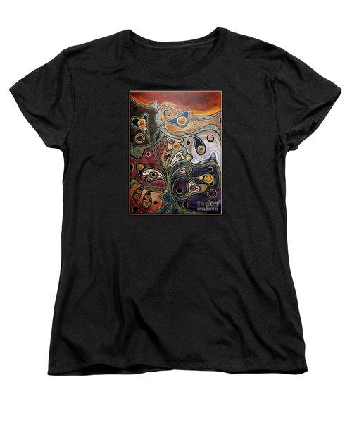 Golden Thought Women's T-Shirt (Standard Cut) by Jolanta Anna Karolska