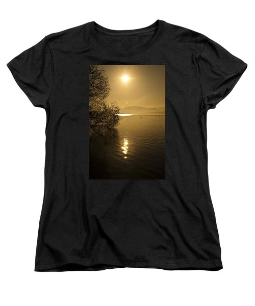 Golden Ullswater Evening Women's T-Shirt (Standard Cut) by Meirion Matthias