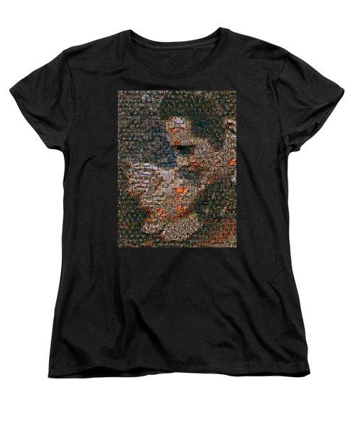 Gone With The Wind Scene Mosaic Women's T-Shirt (Standard Cut) by Paul Van Scott