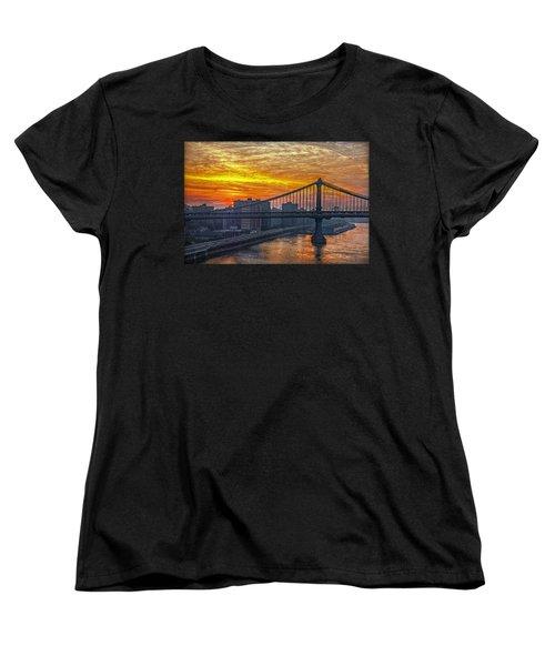 Good Morning New York Women's T-Shirt (Standard Cut) by Hanny Heim