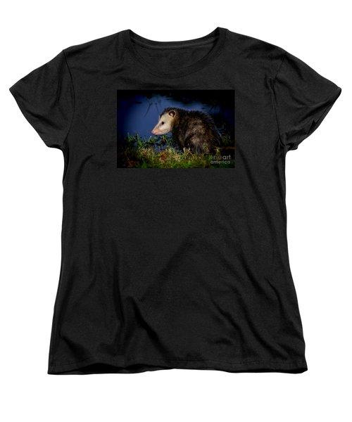 Women's T-Shirt (Standard Cut) featuring the photograph Good Night Possum by Olga Hamilton