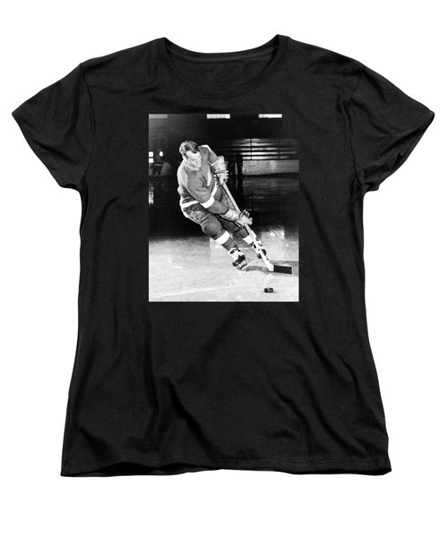 Gordie Howe Skating With The Puck Women's T-Shirt (Standard Cut) by Gianfranco Weiss