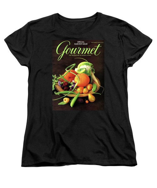 Gourmet Cover Featuring A Variety Of Fruit Women's T-Shirt (Standard Cut) by Romulo Yanes