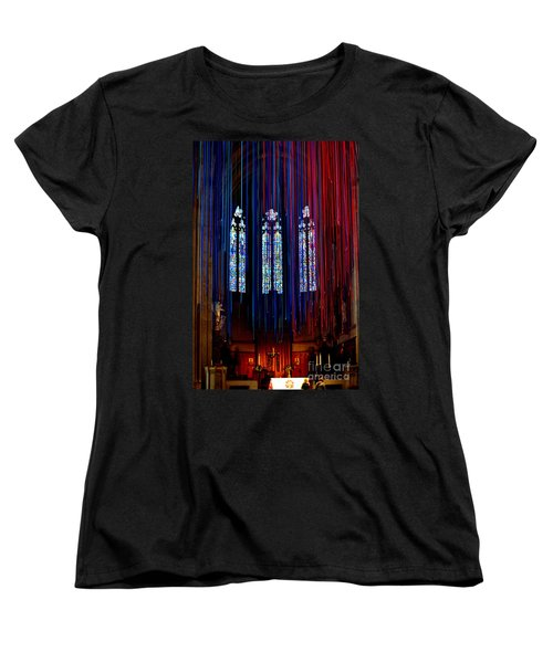 Grace Cathedral With Ribbons Women's T-Shirt (Standard Cut) by Dean Ferreira
