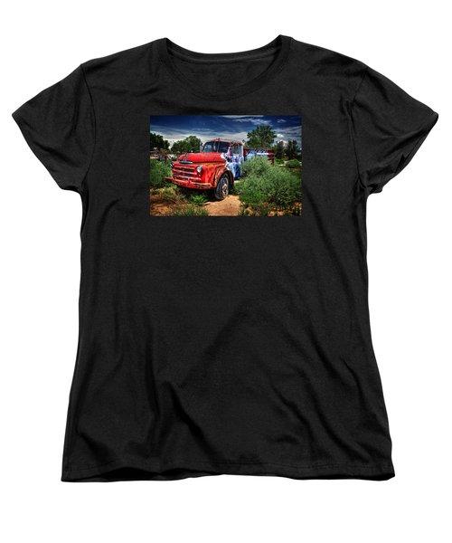 Women's T-Shirt (Standard Cut) featuring the photograph Grafitti Fire Truck by Ken Smith