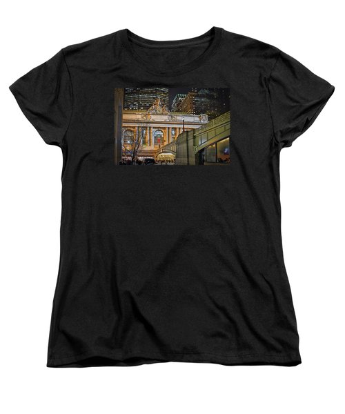 Grand Central Nocturnal Women's T-Shirt (Standard Cut) by Jeffrey Friedkin
