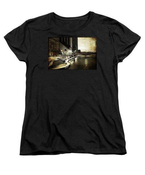 Grand Rapids Grand River Women's T-Shirt (Standard Cut) by Evie Carrier
