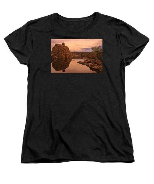 Women's T-Shirt (Standard Cut) featuring the photograph Granite Dells by Priscilla Burgers