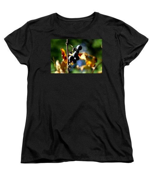 Women's T-Shirt (Standard Cut) featuring the photograph Grapes On The Vine No.2 by Neal Eslinger