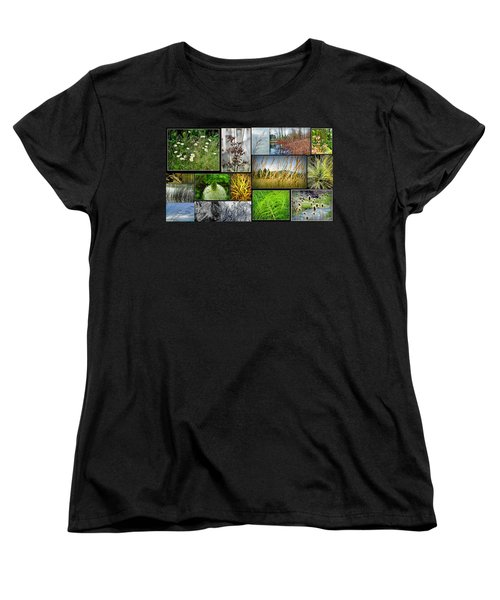 Grass Collage Variety Women's T-Shirt (Standard Cut) by Tikvah's Hope