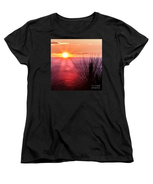 Women's T-Shirt (Standard Cut) featuring the photograph Grasstree Sunset by Peta Thames