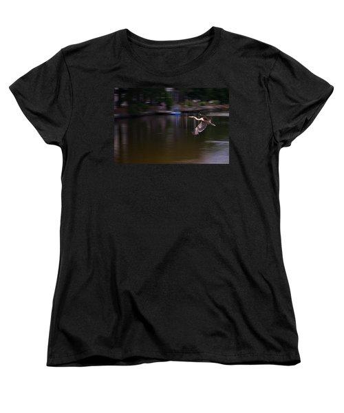 Great Blue Heron In Flight Women's T-Shirt (Standard Cut)