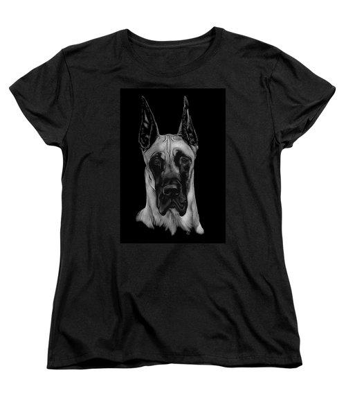 Great Dane Women's T-Shirt (Standard Cut) by Rachel Hames