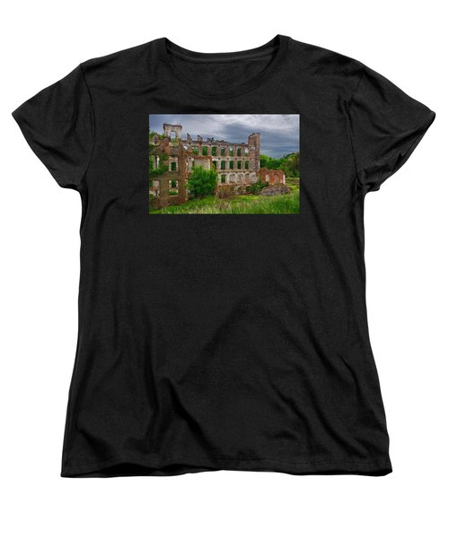 Great Falls Mill Ruins Women's T-Shirt (Standard Cut) by Priscilla Burgers