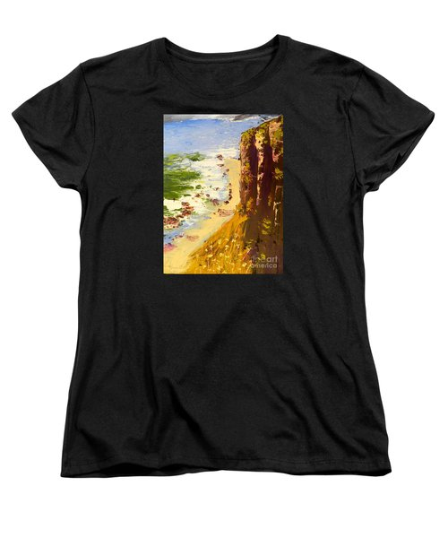 Women's T-Shirt (Standard Cut) featuring the painting Great Ocean Road by Pamela  Meredith