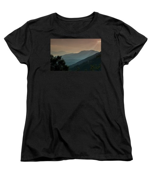 Women's T-Shirt (Standard Cut) featuring the photograph Great Smoky Mountains Blue Ridge Parkway by Patti Deters